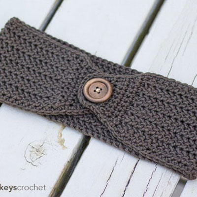 Easy crochet herringbone earwarmer (free crochet pattern)