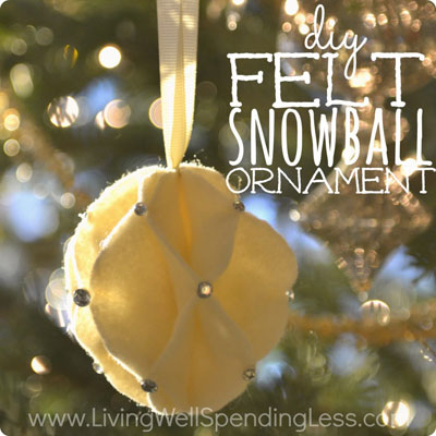 Easy felt honeycomb ball Christmas tree ornament