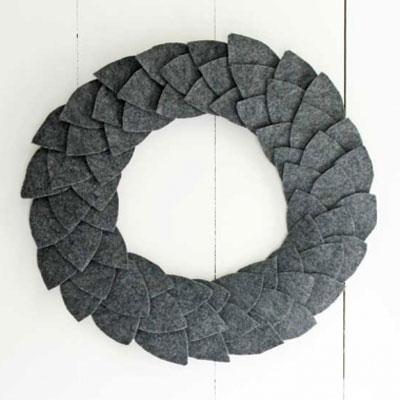 DIY Easy fall felt leaf wreath (winter-autumn decor)