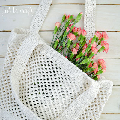 Crochet farmer's market bag (free bag crochet pattern)