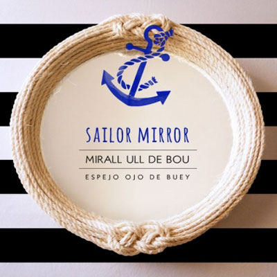 DIY Sisal rope sailor knot mirror