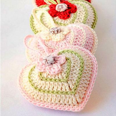 Valentine's day hearts - crochet pattern