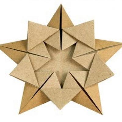 Easy DIY origami Christmas ornament star