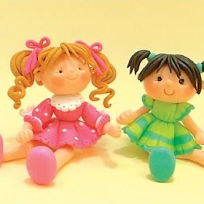 Cute little girls ( step-by-step polymer clay tutorial )