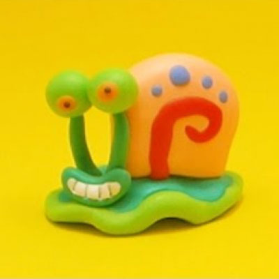 Gary the snail polimer clay figurine ( Spongebob )