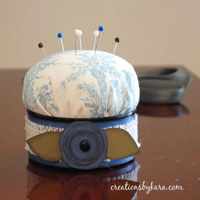 DIY Easy tuna can pincushion - upcycling craft