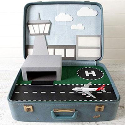 DIY Kids play suitcase