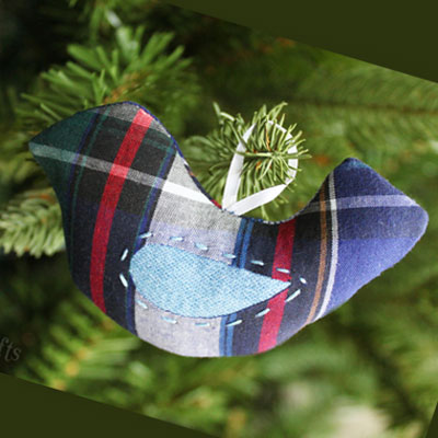 DIY Bird memory Christmas tree ornament