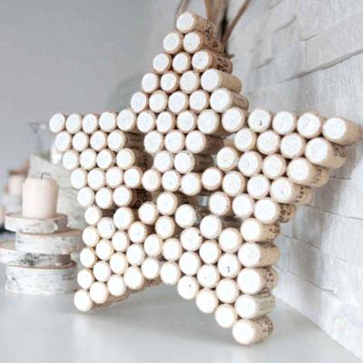 DIY Vintage wine cork star - easy & frugal Christmas decor