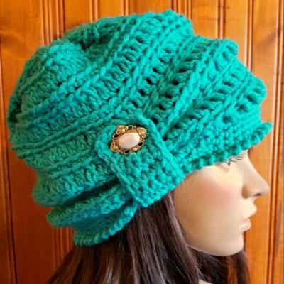 Cozy crochet winter beanie (free crochet pattern)
