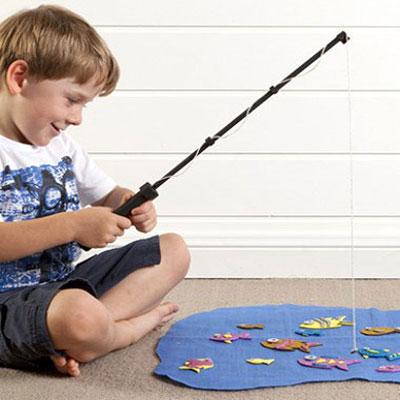 DIY Fishing game - fun handmade game for kids