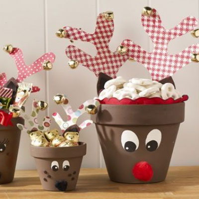 DIY Clay pot reindeer - cute Christmas gift