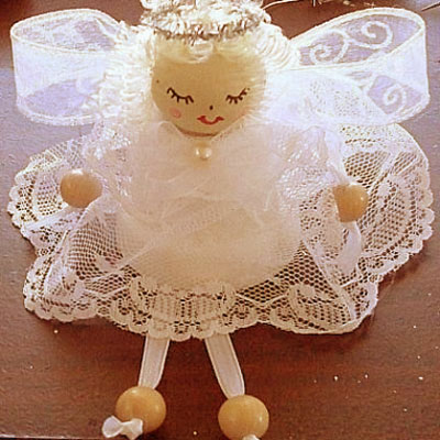 DIY Clay pot angel - adorable Christmas decoration