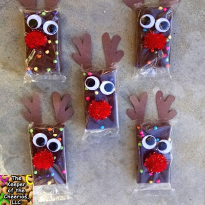 Reindeer brownies - easy Christmas party favors