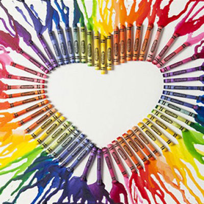 DIY Melted crayon arts