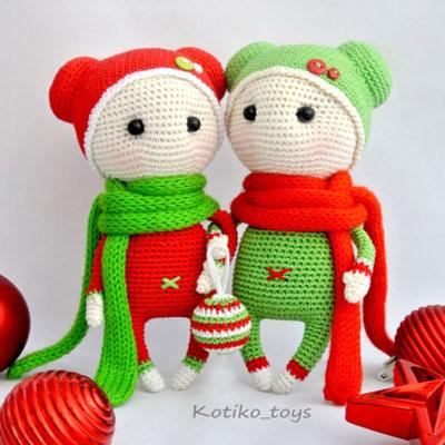 Amigurumi Christmas dolls (free crochet pattern)