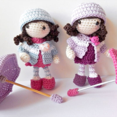 Autumn amigurumi dolls (free crochet pattern)
