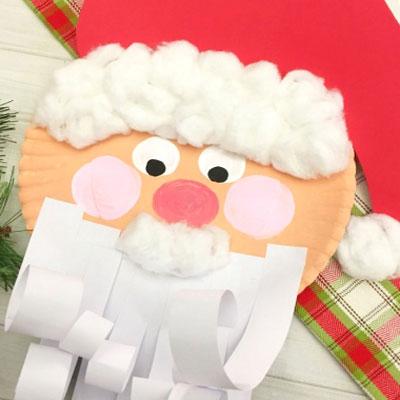 Easy paper plate Santa craft for kids