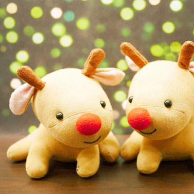DIY Rudolph reindeer sock plush (video tutorial)