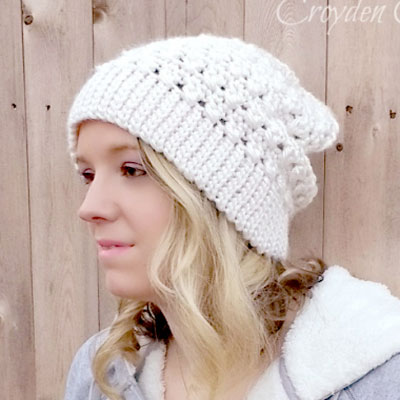 Crochet every girl slouch hat (beanie) - free pattern