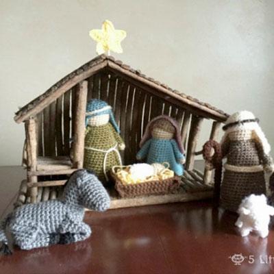 Crochet (amigurumi) nativity set - free crochet pattern
