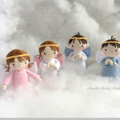 Crochet (amigurumi) angel doll - free crochet pattern