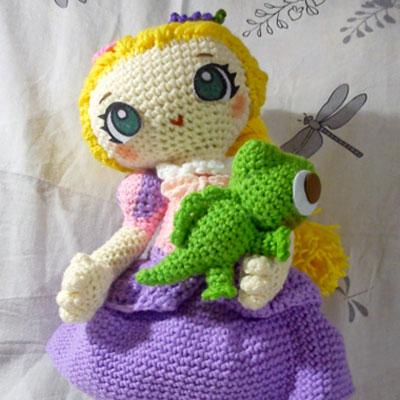 Crochet (amigurumi) Rapunzel doll - free crochet pattern