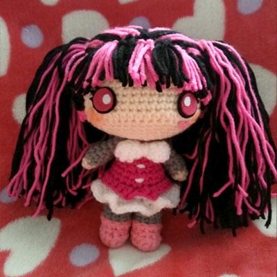 Amigurumi Draculaura doll - free crochet pattern