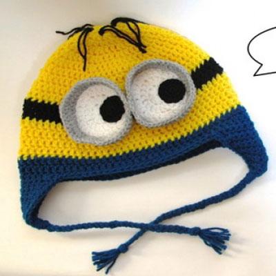 Crochet Minion hat (free crochet pattern)