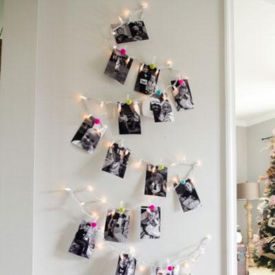 DIY Family photo Christmas tree