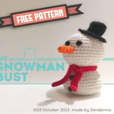Little crochet snowman (free amigurumi pattern)