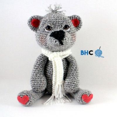 Heart teddy toy - free amigurumi pattern & video tutorial
