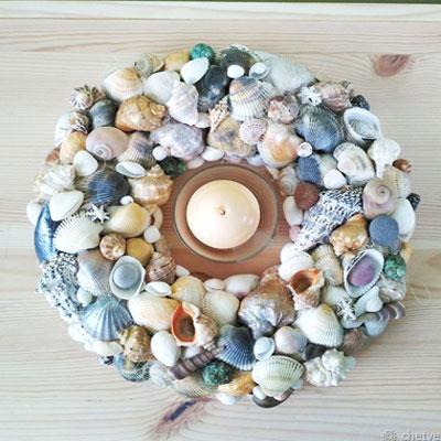 DIY Sea shell wreath - summer decor