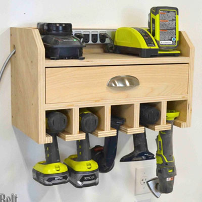 DIY Charging station - free woodworking plan