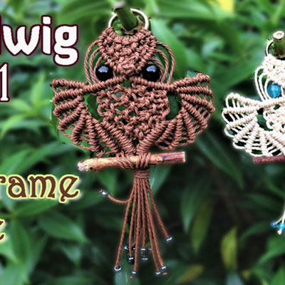 Harry Potter style macrame owl (video knotting tutorial)