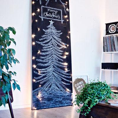DIY Chalkboard Christmas tree