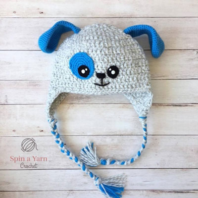 Adorable crochet dog hat (puppy hat)  - free crochet pattern