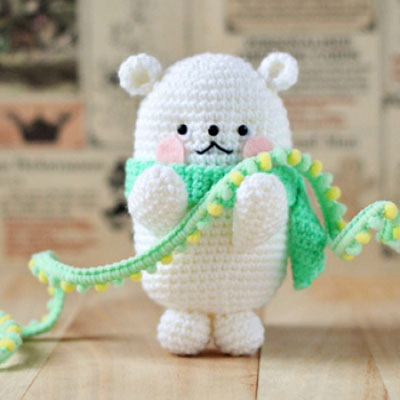 Easy kawaii crochet polar bear - free amigurumi pattern