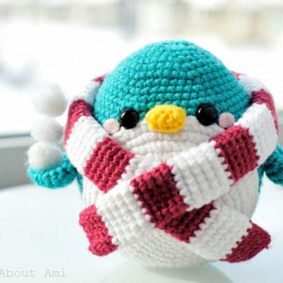 Snuggles the amigurumi penguin - free crochet pattern
