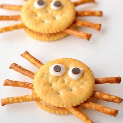 Ritz cracker spiders