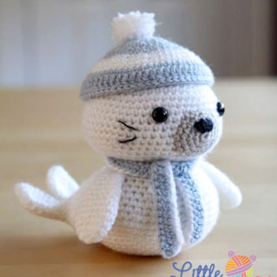 Sammy the crochet (amigurumi) seal - free pattern