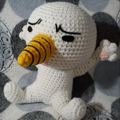 Plue (FairyTail) amigurumi snowman - free crochet pattern