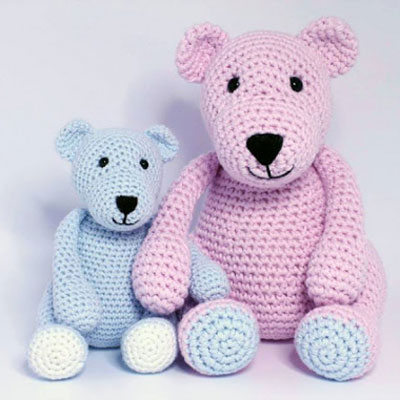 Easy amigurumi bear family - free crochet pattern
