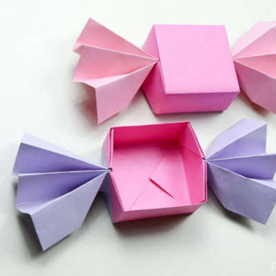 DIY origami candy box -  paper folding tutorial