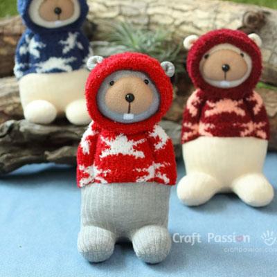Sock beaver - sock animal (free sewing pattern and tutorial)