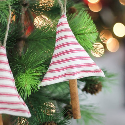 DIY Scented fabric Christmas tree ornament - free sewing pattern
