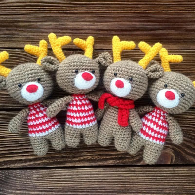 Christmas Crochet - A Must Have Reindeer Amigurumi For This Christmas | 400x400