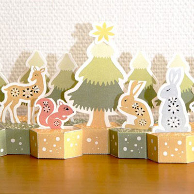 Advent calendar with forest animals (with printable pattern)