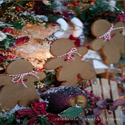 DIY gingerbread man garland - edible Christmas decor & gift