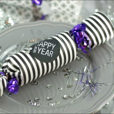 DIY Christmas cracker - new year's edition